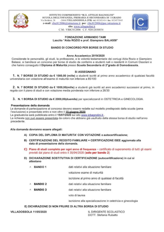 Bando Balassi 2019-2020