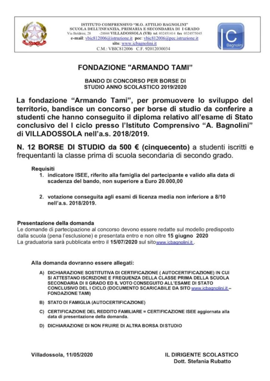 Bando Tami 2019-2020